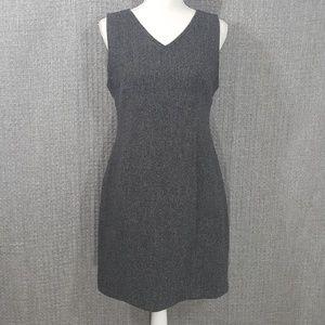 L.L. Bean 100% Wool Sleeveless Dress Sz 10P #194